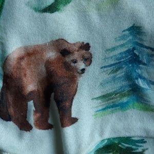 Lark Organics One Pieces - Organic 3 Month Watercolor Bear Romper Onesie